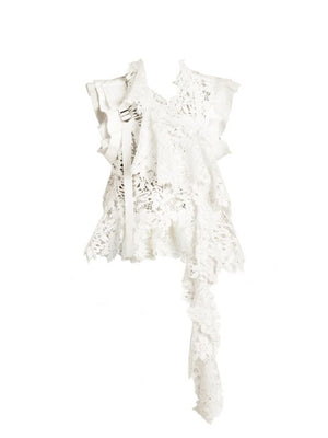 Chemical Lace Vest In Off White