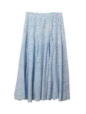 Claire Skirt in Squiggle Blue White