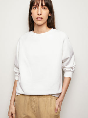 Classic Crew Neck Sweatshirt in Vintage White