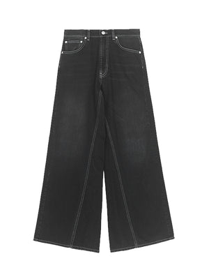 Wide Pants In Black Washed