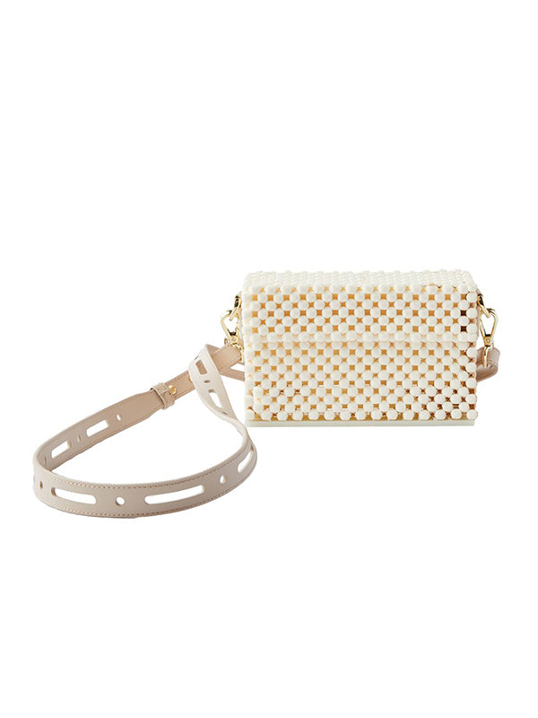 Cloud Cocktail Clutch - Cream