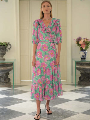 Colette Dress in Azalea Bloom Pink