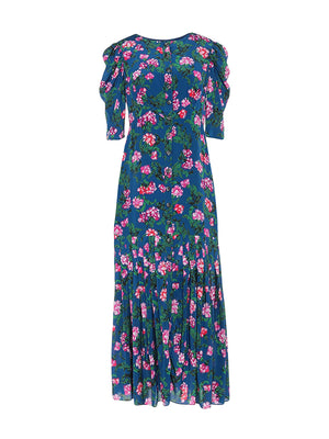 Colette Long Dress in Blue Azalea