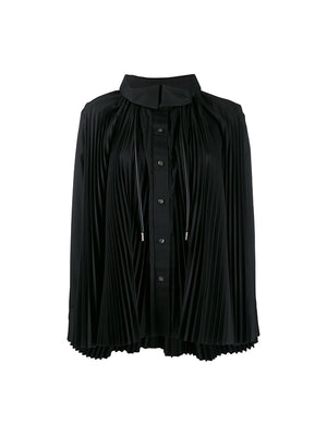 Cotton Poplin Shirt in Black