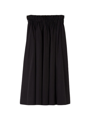 Cotton Poplin Skirt in Black