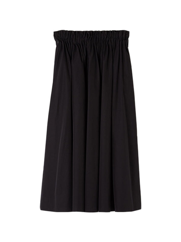 Marni Cotton Poplin Skirt in Black
