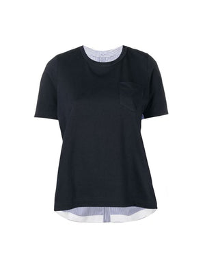 Cotton T-Shirt in Navy