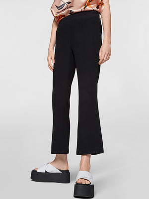 Marni Crepe Elarnsticated Waist Pant in Black