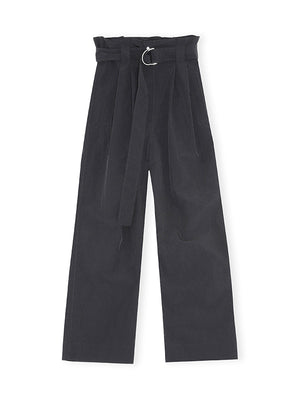 Crinkled Tech Belt Pants in Black