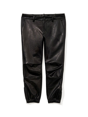 CROPPED FRENCH MILITARY PANT IN LEATHER