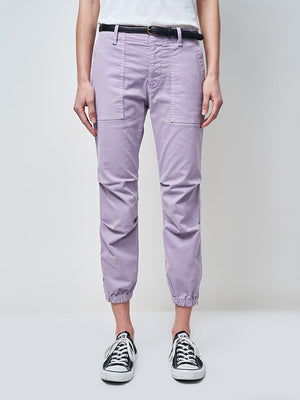 Nili Lotan Cropped Military Pant in Lilac