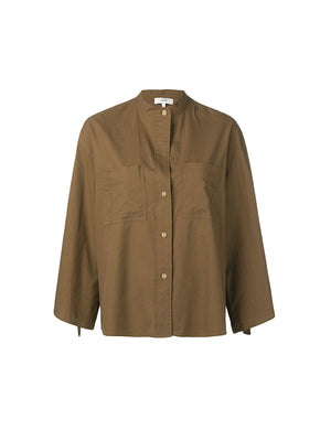 D-Ring Sleevless Utility Shirt in Cotton Wood