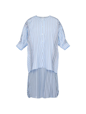 COTTON STRIPE DRESS IN BLUE