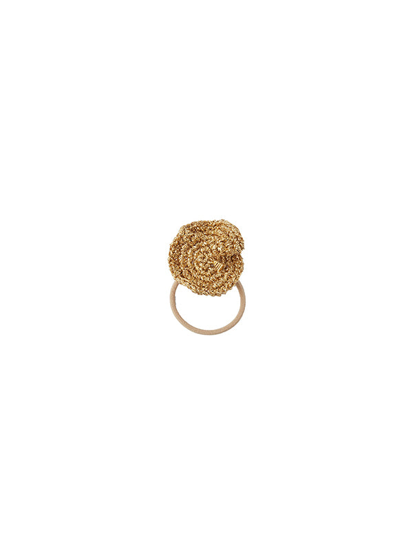 Lucy Folk Desert Camp Hair Tie - Gold