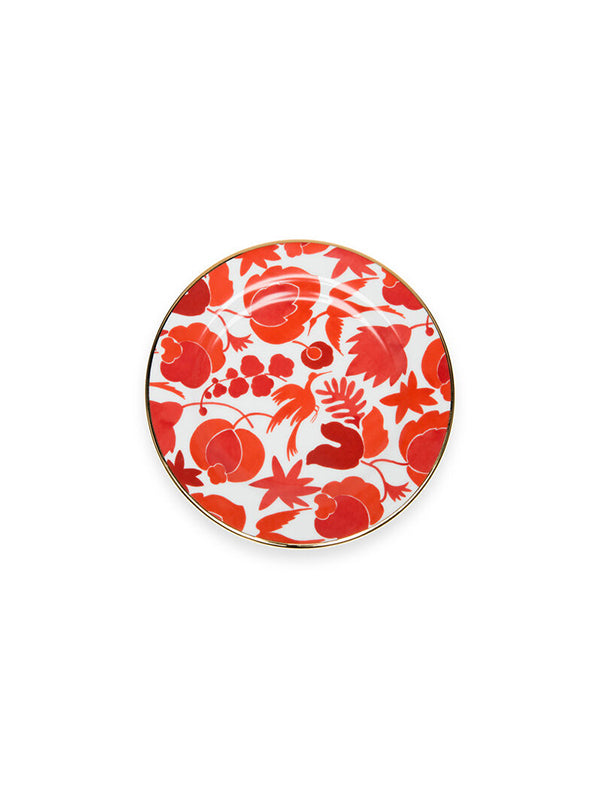 La DoubleJ Homewares Dessert Plates set of 6 in Wildbird Mix