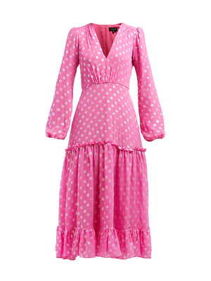 Devon Dress in Peony Pink