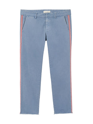 EAST HAMPTON PANT W/ TAPE IN WASHED BLUE