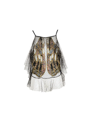 Exoskeleton Lace Top