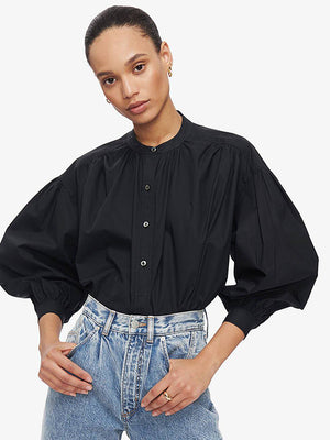 Anine Bing Eden Shirt in Black