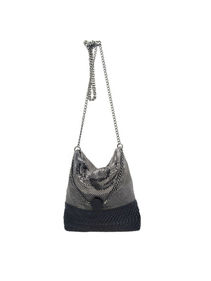 Eleonora Party Bag in Black/Silver