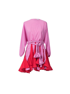 Ella Dress in Prism Pink Block