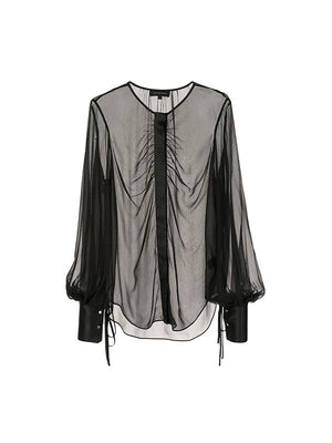 Eve L/S Blouse In Black