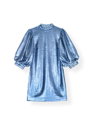 Sequin Dress in Forever Blue