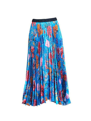 FEED MY FLOWERS PLEATED SKIRT IN PINK PLANET