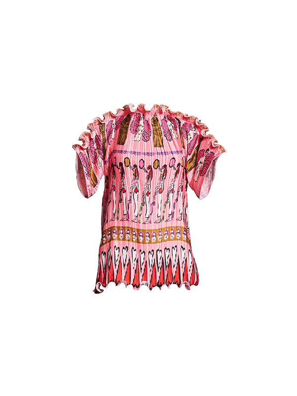 Fortuny Goddess Tee In Pink
