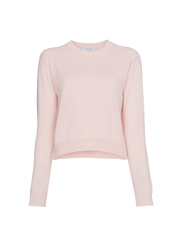FRANCOISE CASHMERE SWEATER IN LIGHT PINK