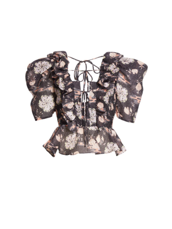 Ulla Johnson Fannie Top in Onyx