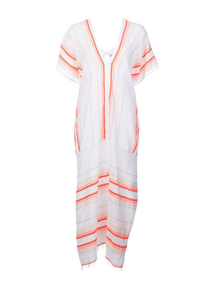Fiesta Long Caftan in Orange