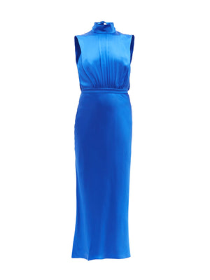 Fleur Midi Dress in Azure Blue