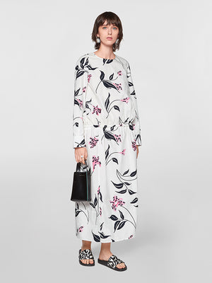 Marni Floral cotton poplin midi dress