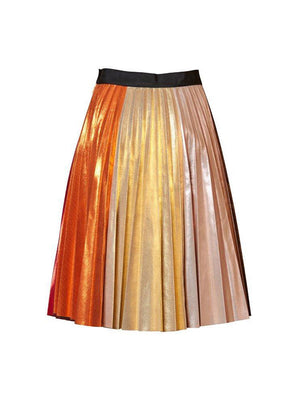 FORTUNE TELLER SKIRT IN METALLIC