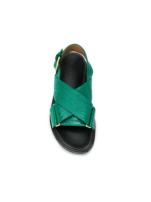 Marni Fussbett Sandal in Green