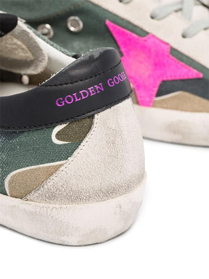 Golden Goose Sneakers Superstar in Camouflage and Fuxia G36WS590.T56