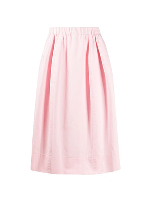 A-line Midi Skirt in Pink Gummy