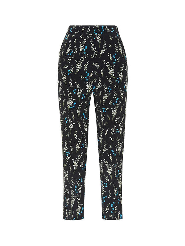 Erdem Gianna Trousers Willow Ditsy