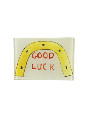 Good Luck (Horseshoe) 3.5 x 5inch Tiny Rect.