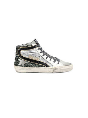 Sneakers Slide in Half Silver Ice Star