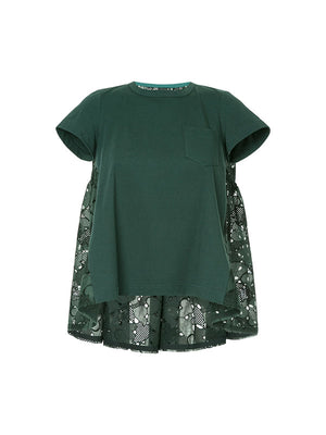 HEART EMBROIDERED T-SHIRT IN GREEN