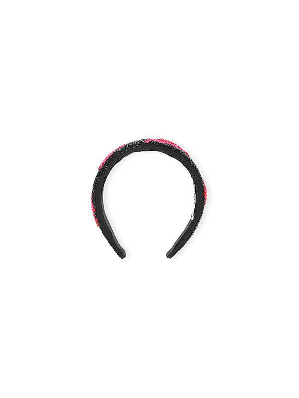 Ganni Headband Beaded In Black