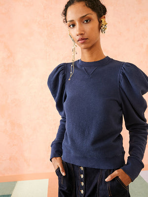 Ulla Johnson Harlan Pullover in Blue Iris