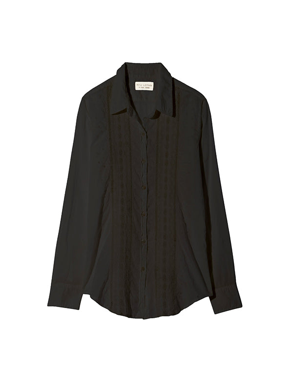 Nili Lotan Harmonia Shirt in Black