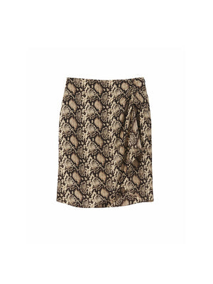 Hazel Skirt in Dark Brown Snake