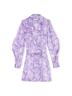 Coat Dress in Violet Tulip