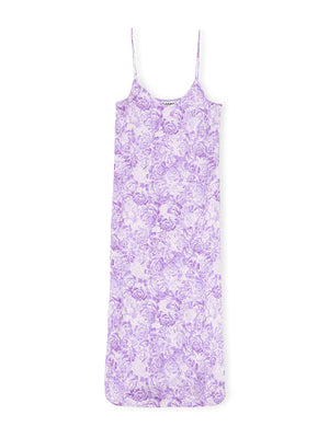 Slip Dress in Violet Tulip