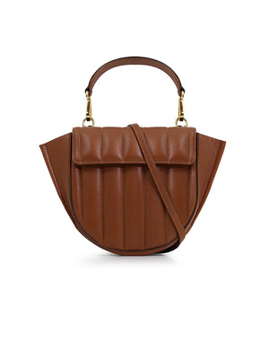 Hortensia Bag Mini in Tan Quilted