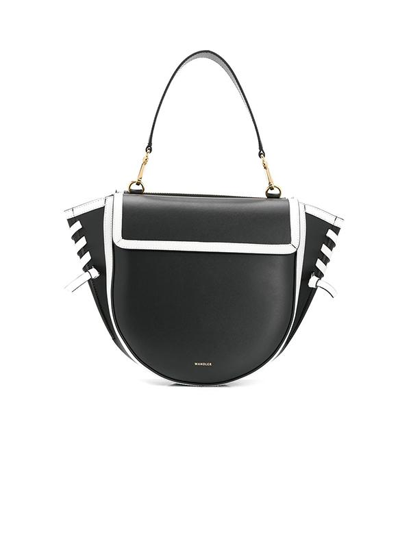 Hortensia Medium Bag in Black/White